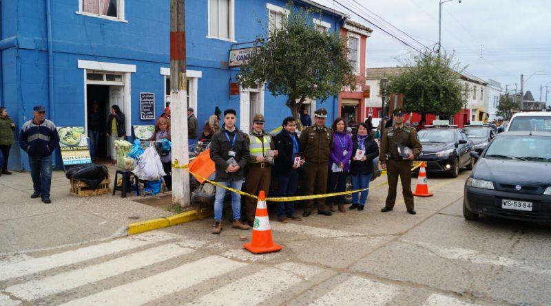 Simulacro de accidente genera expectación en el centro de Pichilemu