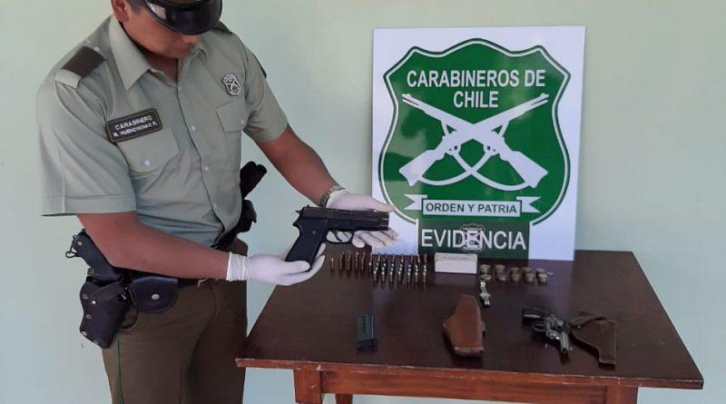 Detenido por robo en lugar habitado y porte de arma de fuego