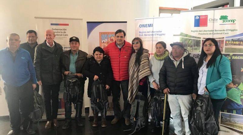Gobernación de Cardenal Caro entrega Kit's de Emergencia a personas en situación de discapacidad de la provincia