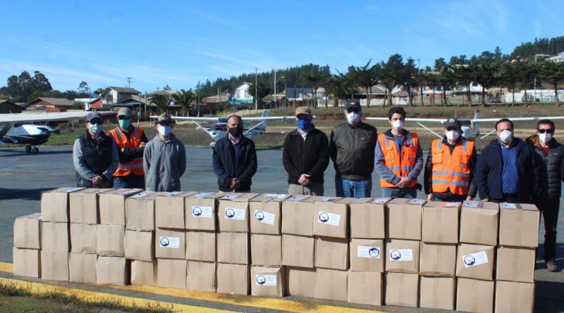 Club Aéreo de Vitacura dona cajas de alimentos para familias vulnerables de Pichilemu