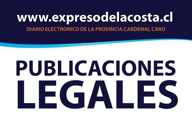 Publicación Legal: CAUSA ROL : V-10-2018